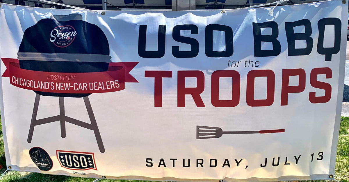 The USO BBQ for the Troops Event at Raymond!