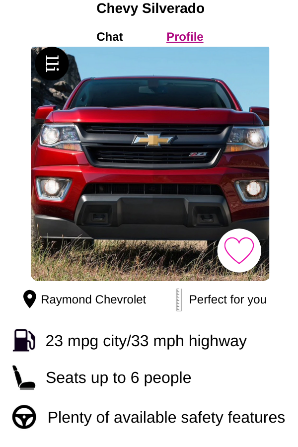 Let your Chevy match be the 2020 Chevy Silverado!