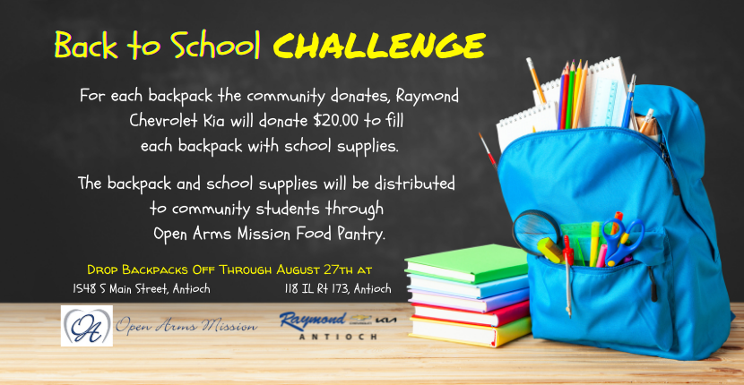Backpack Drive with Open Arms Mission